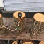 玉切り材の比重を実測する