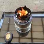 ペレットとオリーブオイルでウッドガスストーブの燃焼試験をした