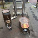 薪ストーブとロケットストーブを比較燃焼試験をした。